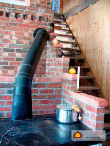 cuisinière de masse thermique en briques