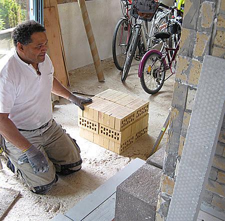 Fabrication d'un poêle de masse