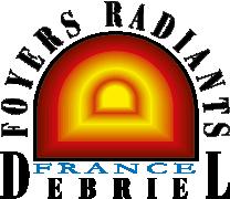 logo Debriel poele foyer radiant à inertie